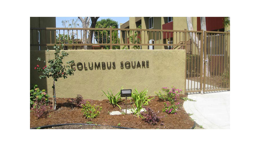 Jamboree's Columbus Square in North Hills affordable community sign