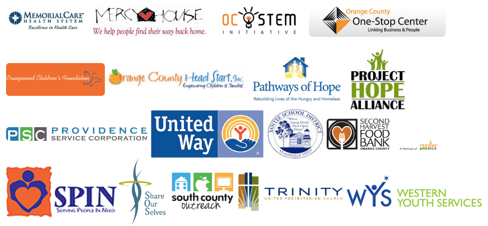 Community Service Partner Logos from additional Community Organizations in CA