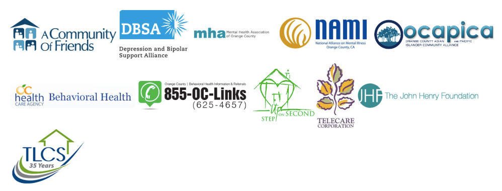 Community Service Partner Logos with Mental Health Organizations