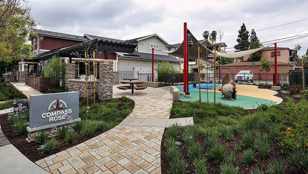 Jamboree's Compass Rose affordable housing community tot lot Fullerton