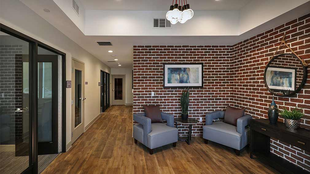 Community center at Jamboree's Compass Rose Fullerton affordable housing