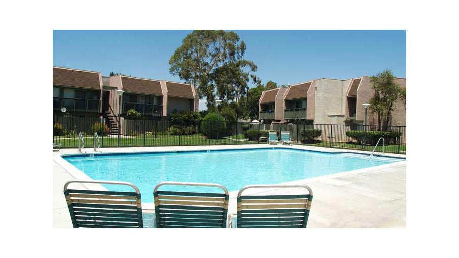 Jamboree's Corona Park affordable family apartments pool in Corona, CA