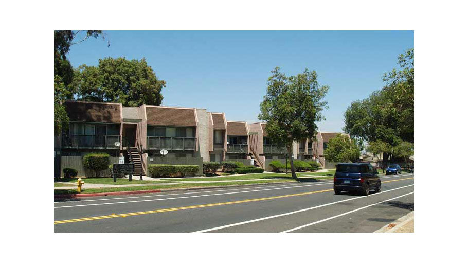 Jamboree's Corona Park affordable family apartments street Corona, CA