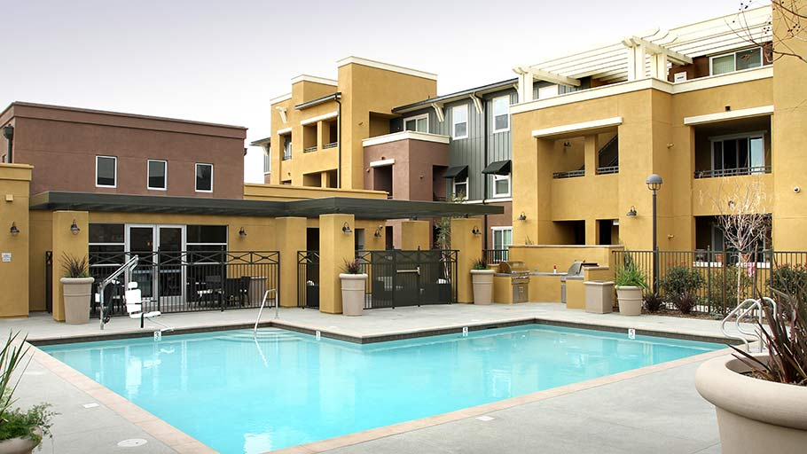 Jamboree CourierPlace affordable community Claremont pool & building