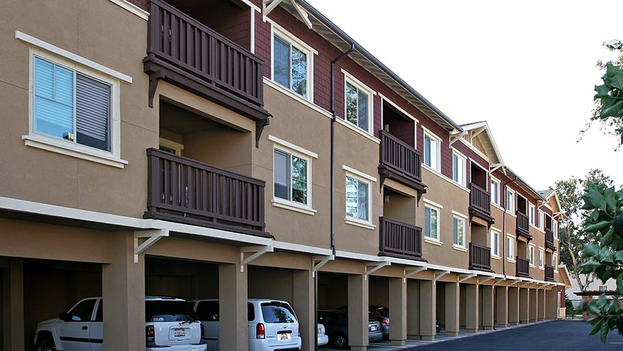 Jamboree's Diamond in Anaheim, CA family apartment community carports
