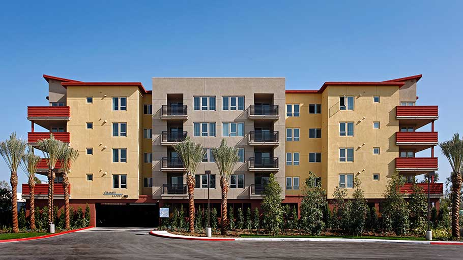 Jamboree Granite Court high-tech affordable housing in Irvine Ca