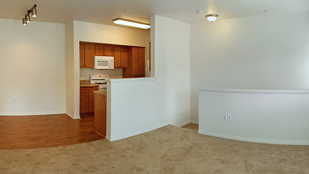 Resident unit apartment interior in Jamboree's Greenleaf, an affordable family community in Anaheim, CA