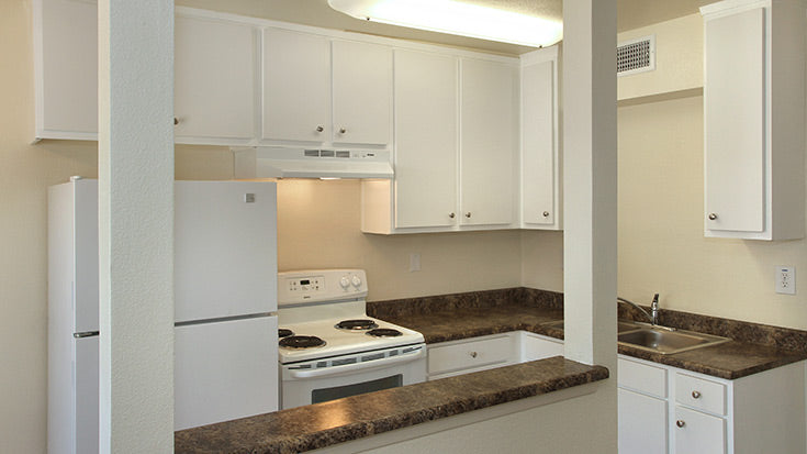 Jamboree's affordable housing complex Grove Park in Garden Grove community kitchen.