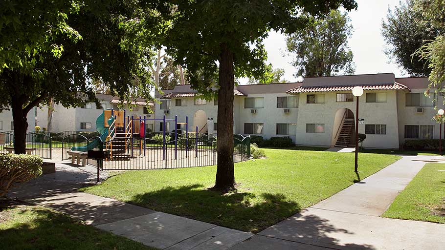 Jamboree's La Puente Park affordable family community green space in La Puente,CA