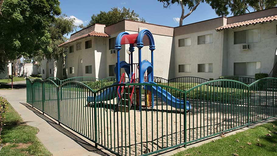Jamboree's La Puente Park affordable family community tot lot in La Puente,CA