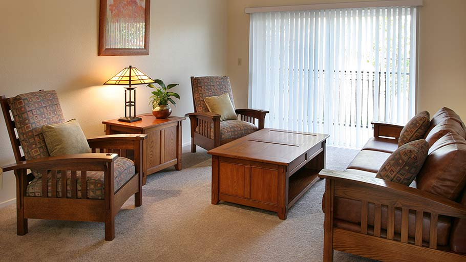 Jamboree's Laurel Crest affordable resident unit living room Lancaster