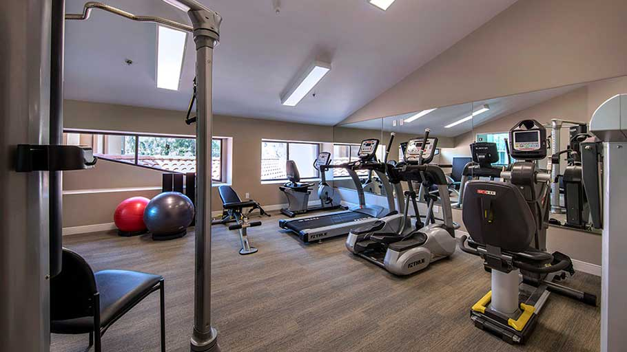 Jamboree's Heritage Villas senior affordable housing fitness room