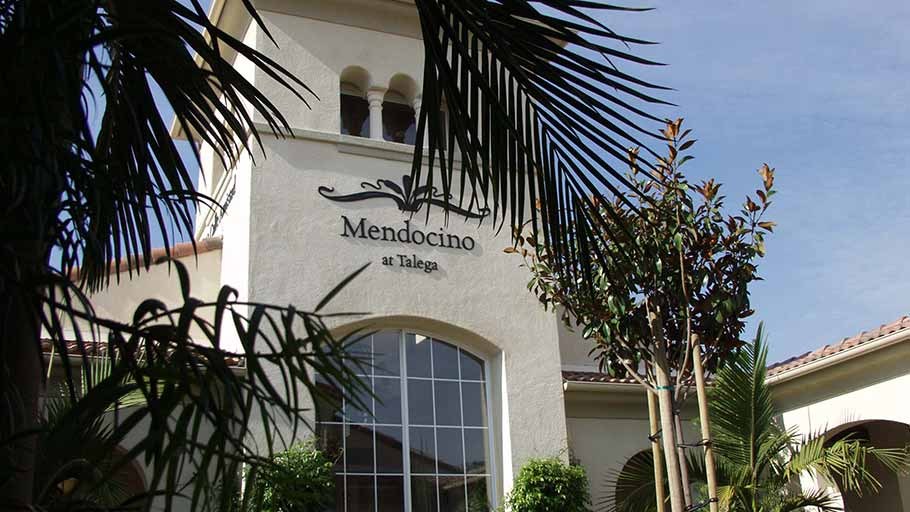 Jamboree's Mendocino at Talega in San Clemente CA community entrance