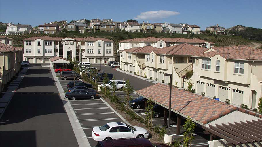 Jamboree's Mendocino at Talega in San Clemente CA affordable housing carports