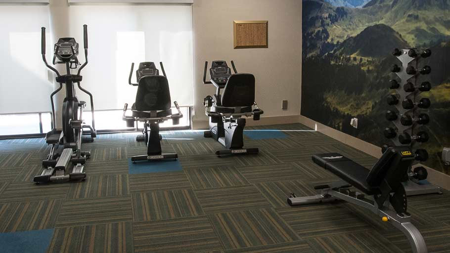 Jamboree's affordable senior housing community exercise room in the OC