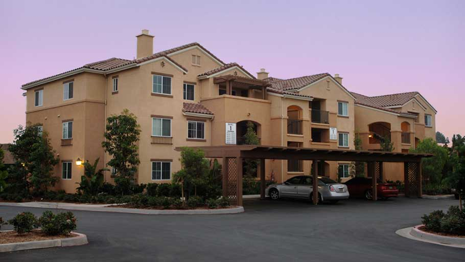 Jamboree's Montecito Vista Irvine garden style affordable housing community