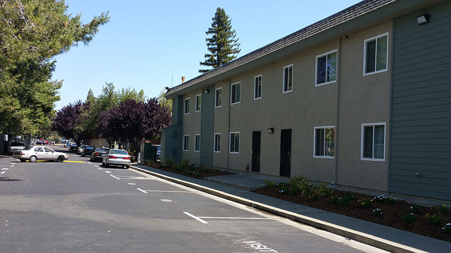 Monument Arms, Jamboree's affordable housing renovated family apartments in Fairfield.