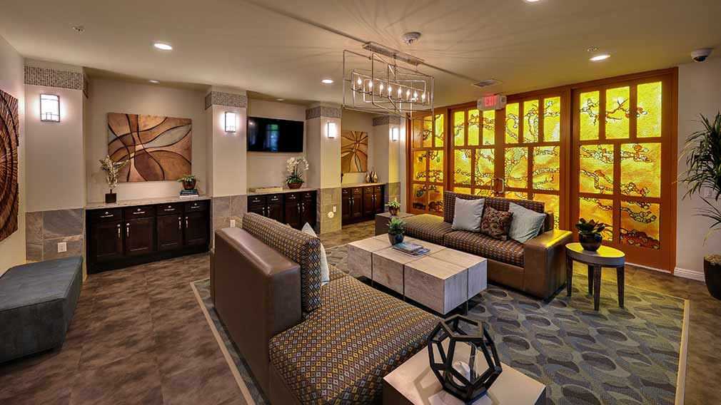 Jamboree's Rockwood Apartments community room in Anaheim, CA