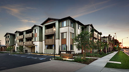 Jamboree's Lincoln Avenue affordable community in Anaheim rendering.