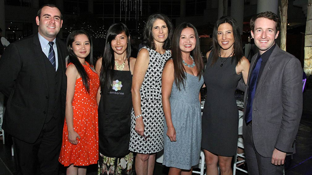 Jamboree finance staff at Winemaker Dinner event