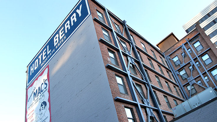 Restoration of the Studios at Hotel Berry leads to supportive housing.