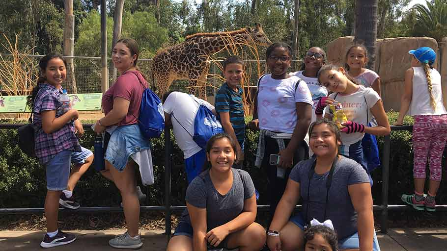Jamboree's Summer Literacy program trip to the SD zoo