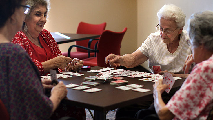 Jamboree's The Meadows in Irvine residents playing card games.