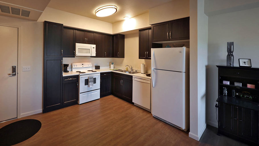 Jamboree's West Gateway Place unit kitchen in West Sacramento, CA.