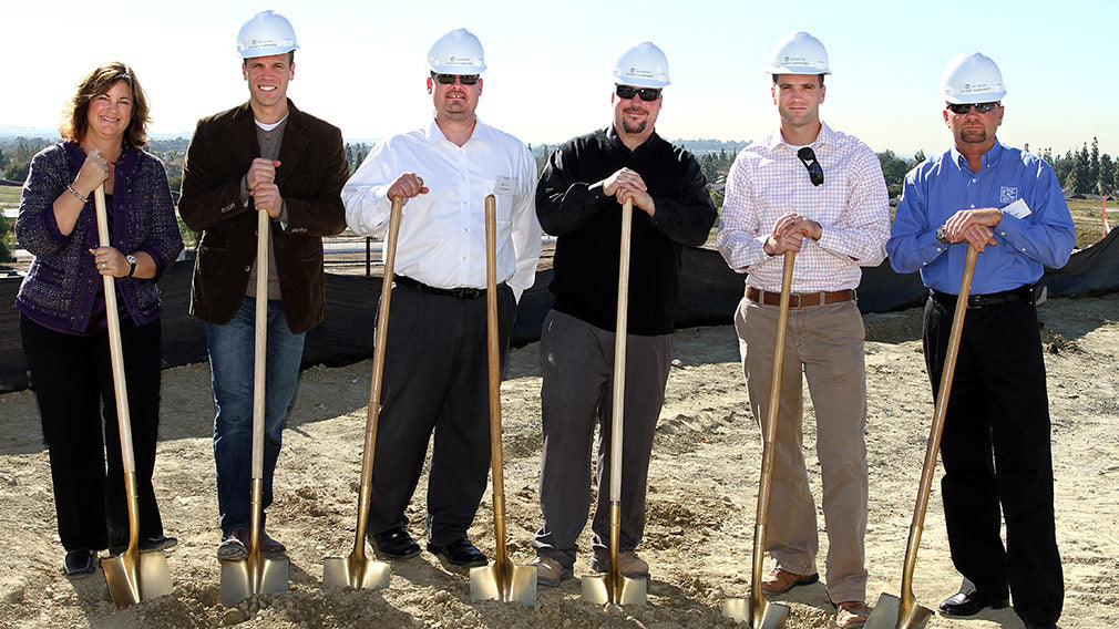 Jamboree's Bonterra in Brea Ground Breaking partner shovel photo.