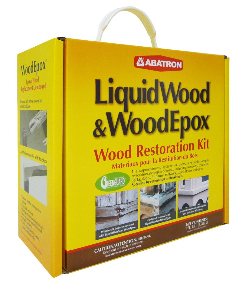 Abatron LiquidWood & WoodEpox Wood Restoration Kit