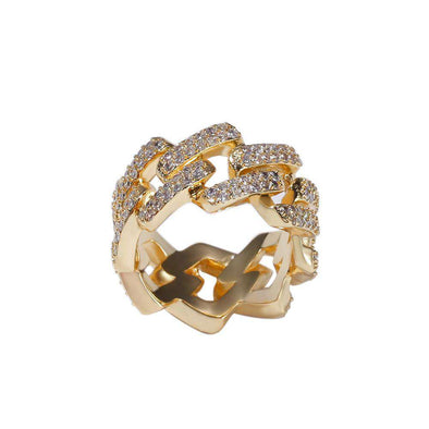Choker Cuban CZ Diamond Ring