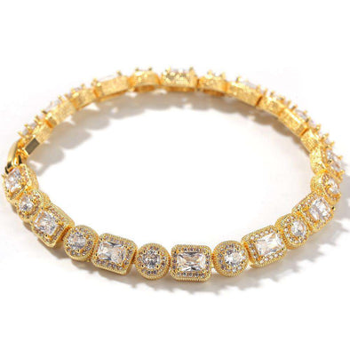 Premium Big Diamonds Bracelet Yellow Gold