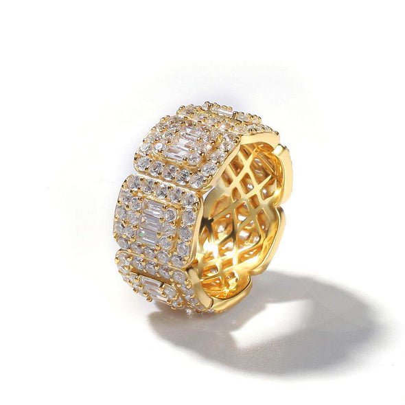 Migos Cz Diamond Ring Gold / 8