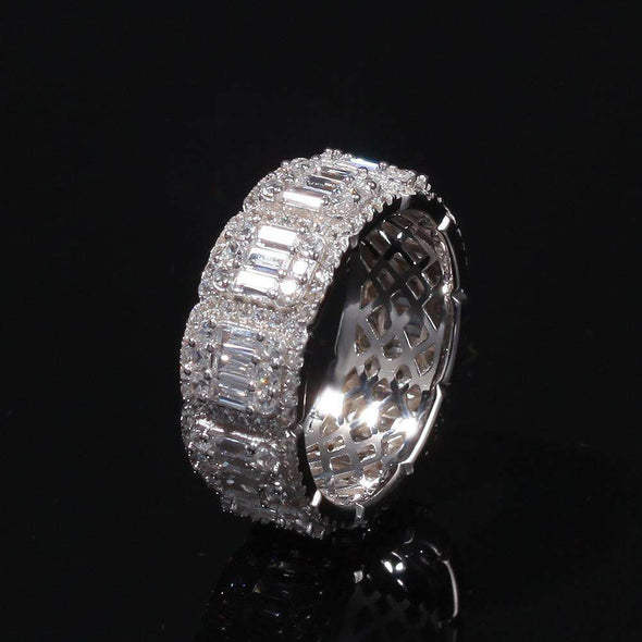Migos Cz Diamond Ring Silver / 8