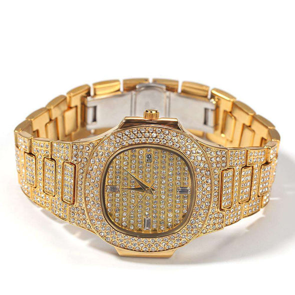 Gold Royal Iced Watch