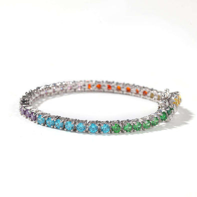 [New] Multicolor Diamonds Tennis Bracelet