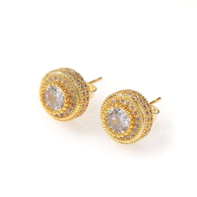 Premium Cz Diamond Earrings Gold