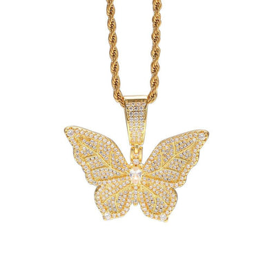 Bust-Down Butterfly Pendant