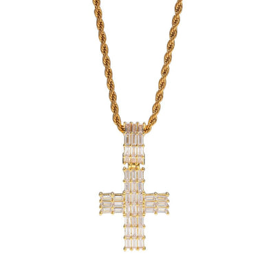 Bust-Down Small Cross Pendant