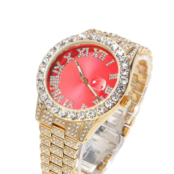 Bust-Down Red/green Face Premium Watch