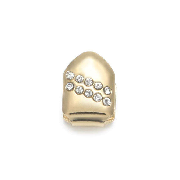 Single Tooth Mini Diamonds Grillz Gold