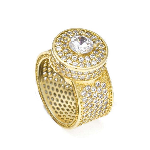 Big Rock Cz Diamond Ring Gold / 8