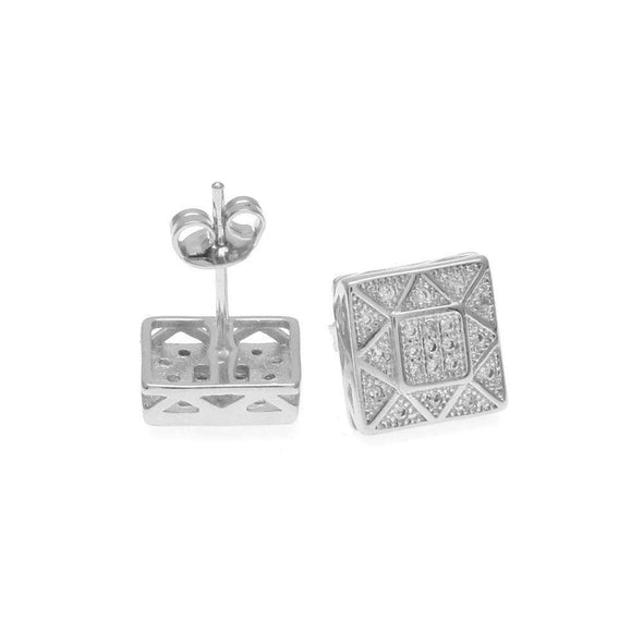 Big Cz Diamond Earrings