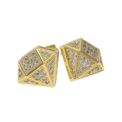 Big Diamond Earrings Gold