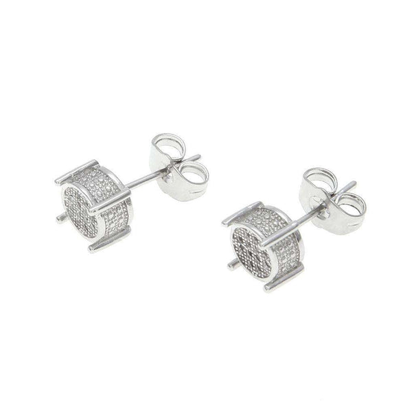 Limited Stock | Rouded Diamond Earrings Silver