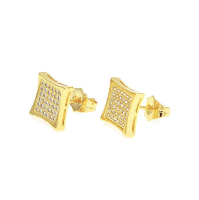Zirconia Studs Earrings Gold