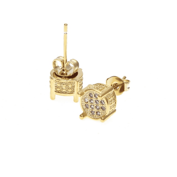 Limited Stock | Rouded Diamond Earrings Gold