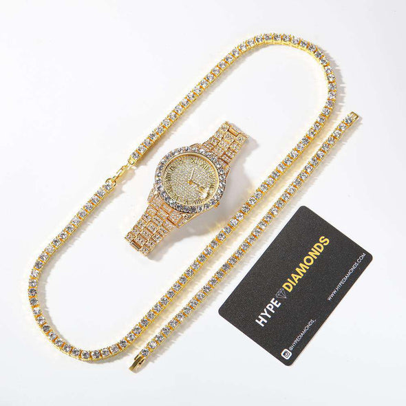 Tennis Premium Set (Limited Stock) Yellow / 8Inch Bracelet 24Inch Necklace