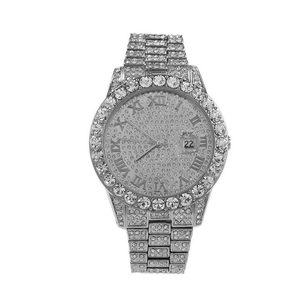Bust-Down Premium Watch White Gold