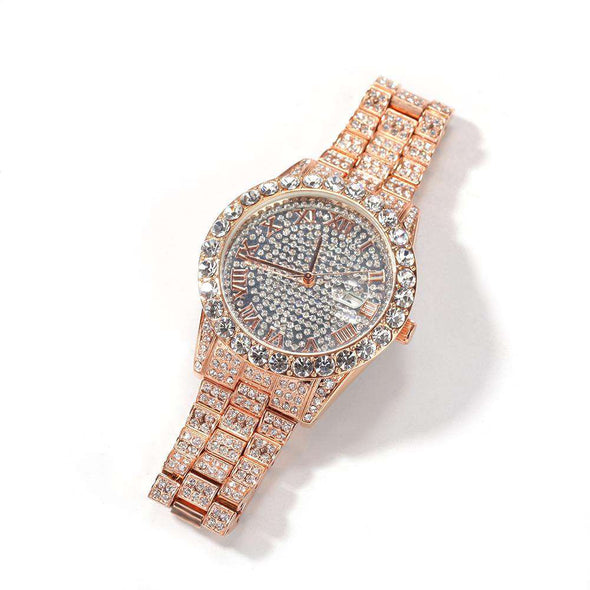 Bust-Down Premium Watch Rose Gold